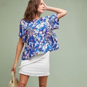 Anthropology Maeve Milla floral printed top